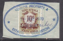 South Africa  10c Revenue Stamp - VENKOR PROPERTY & ESTATES GERMISTON 5 MAY 1970 - Unclassified