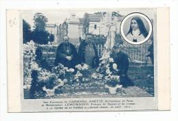 Cp , RELIGION , Cardinal Amette Et Evéque Lemonnier , 1912 , Tombe Ste Thérése , Portrait , Vierge - Saints