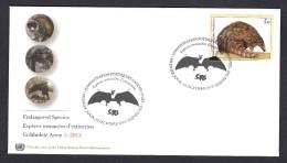 United Nations 2014 FDC. ENDANGERED SPECIES. .Bat And Pangolin De Temminck - FDC