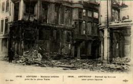 ANVERS Maisons Brûlées Prés De La Place Verte - Antwerpen