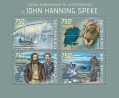 ca14121a Central African 2014 John Hanning Speke Bird s/s
