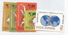 FRSP041 - ROMANIA - CAMPIONATO MONDIALE DI LOTTA 1967 - Lotta