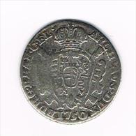 ¨¨ OOSTENRIJKSE NEDERLANDEN SCHELLING  1750 BRUGGE  ZILVER - ...-1831