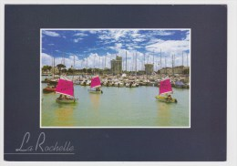 LA ROCHELLE - ECOLE DE VOILE DANS LE VIEUX PORT AVEC VOILIERS - La Rochelle