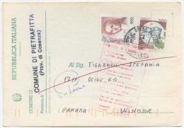 1999 CASTELLI L.500 + DONNE L. 800 CARTOLINA ELETTORALE AEREA X CANADA TARIFFA BREVE PERIODO (6344) - 6. 1946-.. Repubblica