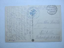 1915, KORTRYK, Courtrai   , Carte Militaire - WW I