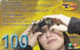Greenland, PRE-GRL-1008, 100 Kr, Lady And Binoculars, 2 Scans   Expiry 01-08-2008.  Please Read.