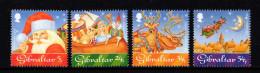 GIBRALTAR 1995 NOEL Hotte Jouets Rennes Lune Père Noel  848** A 852** Christmas - Gibraltar