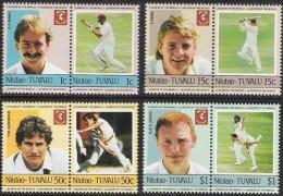 Niutao Tuvalu 1984 Sport Baseball 8 Valeurs Série Complète - Tuvalu