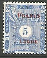 COTE DES SOMALIS TAXE SURCHARGE FRANCE LIBRE  N� 21 NEUF* TTB