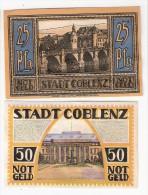 *notgeld Coblenz Serie  Compleet 25 Pf+ 3 X  50 Pf           233.1 - [11] Emissioni Locali