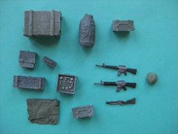 Figurines 1/35 Materiels Divers Américain Pour Diorama - Figurines