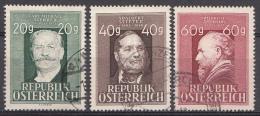 AUTRICHE Mi.nr.:855-857 Todestag Von Ziehrer, Stifter Und Amerling 1948 OBLITÉRÉS / USED / GESTEMPELD - 1945-.... 2de Republiek