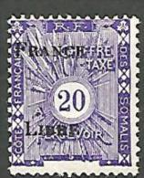COTE DES SOMALIS TAXE SURCHARGE FRANCE LIBRE  N� 24 NEUF*