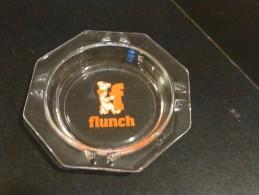 = Cendrier Publicitaire Flunch, Verre Transparent - Glass
