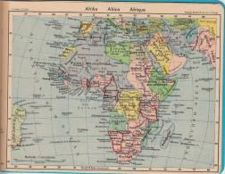 1940 Map Karte 17X13cm Africa 184 - Cartes Géographiques