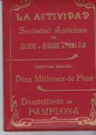 España--Carpeta De Poliza De Seguros--LA ACTIVIDAD-- Con 45 Recibos Del Año 1904 Al 1910 - España