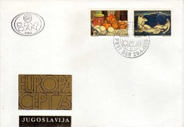 Europa-CEPT > 1975,FDC Yugoslavia,motive - Painting,apple,pomme,three Graces - Europa-CEPT