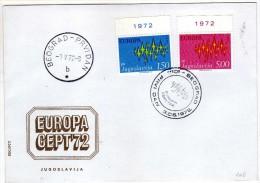 Europa-CEPT > 1972 FDC,Yugoslavia - Europa-CEPT