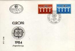 Europa-CEPT > 1984 FDC,Yugoslavia - Europa-CEPT
