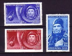 055 roumanie neuf ** n� A 141/43 espace : cosmonaute gagarine :