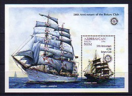 117 azerbaidjan neuf ** bloc n� 28 transport : bateau : voilier : rotary
