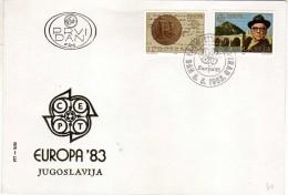 Europa-CEPT > 1983 FDC,Yugoslavia - Europa-CEPT