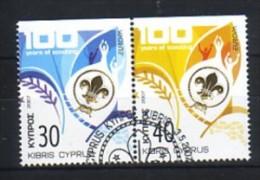 168  chypre oblit�r� n� 1109a/10a europa : non dentel� en haut