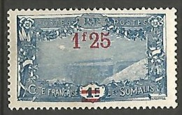 COTE DES SOMALIS YVERT  N� 117 NEUF** LUXE / MNH