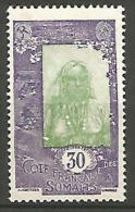 COTE DES SOMALIS YVERT  N� 125 NEUF** LUXE / MNH