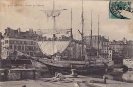 CPA 76LE HAVRE BASSIN DE LA BARRE N°4 EDIT ??? BEAU VISUEL GROS PLAN BATEAU VOILIER 1908 A VOIR - Le Havre