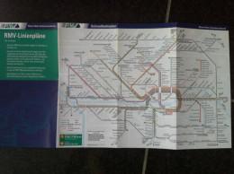 Transit Map Frankfurt Am Main - Germany / Subway / Bus / Tram / U Bahn/ Métro / Tramway / Strassenbahn - World