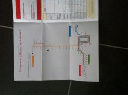 Transit Map Charleroi - Belgium / Subway / Bus / Tram / U Bahn/ Métro / Tramway / Strassenbahn - World