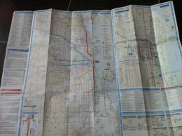 Transit Map Chicago USA / Subway / Bus / Tram / U Bahn/ Métro / Tramway / Strassenbahn / Stadtbahn - World