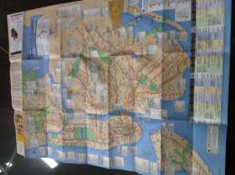Transit Map New York - USA / Subway / Bus / Tram / U Bahn/ Métro / Tramway / Strassenbahn / Stadtbahn / Underground - World