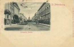 014-1899 San Pietroburgo St Petersburg Perspective Nevsky - Russland