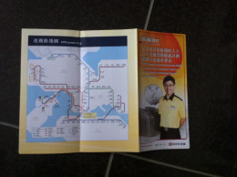 Transit Map Hong Kong - China / Subway / Bus / Tram / U Bahn/ Métro / Tramway / Strassenbahn / Stadtbahn / Underground - World