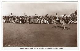 ADEN/YEMEN - CAMEL RACES .FAIR DAY AT VILLAGE OF SHEIKH OTHMAN - Jemen
