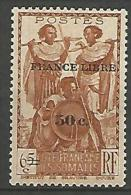 COTE DES SOMALIS SURCHARGE FRANCE LIBRE   N� 233 NEUF** LUXE