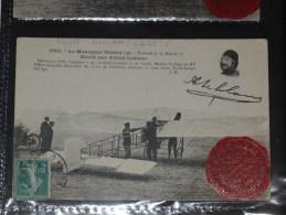 """Circuit De L'Est Le Monoplan Blériot """"type Traversé De La Manche"""" Monté Par A. Leblanc Moteur Gnôme De 50 HP Voir Texte - Meetings"""