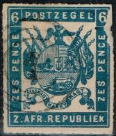 Transvaal - 1870 - Y&T N° 17, Oblitéré, Percé En Ligne - Transvaal (1870-1909)