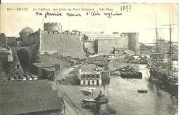 Brest - Le Château, Vue Prise Du Pont National 1897 (e - 20) - Brest