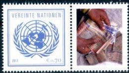 ONU Vienne 2013 - Détaché De Feuille De Timbres Perso - PANAMA -10 Years Of UNCAC Conférence Contre La Corruption ** - Vienna – International Centre