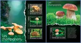 gu14111ab Guinea 2014 Mushrooms 2 s/s