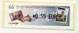 """LISA 1/ 66ème SALON D""""AUTOMNE PARIS 2012 (timbres Andorre) - 2010-... Illustrated Franking Labels"""