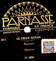 78 Trs - 25 Cm - état B - PARNASSE 6098 -  Orchestre Et Chants Homme -  LE VIEUX RUBAN - LES VIEILLES DE CHEZ NOUS - 78 Rpm - Schellackplatten