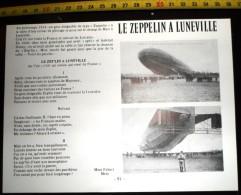 DOCUMENT PRESSE PHOTO LE ZEPPELIN A LUNEVILLE 1914 CHAMPS DE MARS - Collections