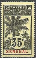 SENEGAL TYPE PALMIERS N�  39 NEUF* TB