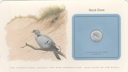 HONGRIE BIRD COINS OF THE WORLD STOCK DOVE CARTE NUMISMATIQUE OISEAUX FRANKLIN 10 FILLER 1973    Tda20a - Hongrie