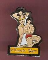 37195-Pin's.Culturisme.Mu Sculation.Gymnastique.. - Weightlifting